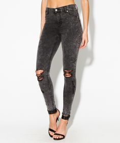HIGH SPRAY SCRATCH GREY | Jeans | Clothing | Shop Womens | General Pants Online
