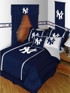 New York Yankees MLB bedding sets. #MLB #yankees #bedding
