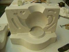 Molde de escayola para tetera cerámica