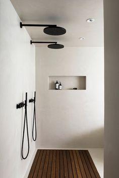 Adorable Wooden Bathroom Design Ideas For You - Decorating Ideas - Home Decor Ideas and Tips Bad Inspiration, Bathroom Inspiration, Interior Inspiration, Wooden Bathroom, Small Bathroom, Bathroom Ideas, White Bathroom, Basement Bathroom, Shower Ideas