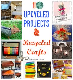 I'm featured in the TOP10 Recycled Crafts and Upcycled Projects {Earth Day ideas} by  @Bowdabra @BowdabraBlog.com  -- THANKS!