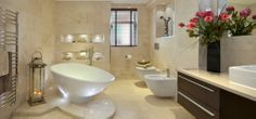 Massive photo gallery of custom bathroom design ideas of all types, sizes and color schemes. Bathroom Island, Bathroom Spa, Small Bathroom, Bathroom Ideas, White Bathrooms, Bathroom Designs, Bathroom Cabinets, Boutique Bathroom, Custom Bathrooms
