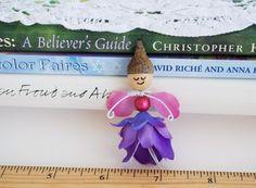 Little Acorn Cap Flower Petal Fairy Doll by FairyLynne on Etsy