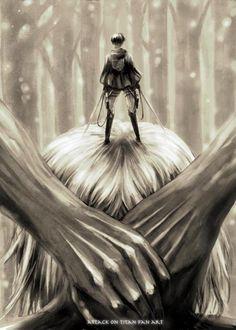 Attack on Titan - Shingeki No Kyojin; levi on Annie