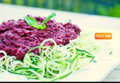 Fully raw pasta - fully raw Kristina