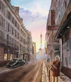 Boulevard Montmartre Passage des Panoramas 1877 Etchings