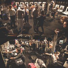 Backstage at Mercedes-Benz Fashion Week Berlin with Swedish label UBI SUNT. Photography: Lars Brandt Stisen #MBFWB #MBFW #runway #studio #BTS
