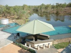 The swimming pool for guests at Cobbold Gorge