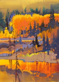 Stephen Quiller: quillergallery.com this is one of my favorite artist and he has influenced by own paintings thru the use of colors and his very own line of paints which I love to paint with.