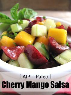 AIP / Paleo Cherry Mango Salsa - A Squirrel in the Kitchen