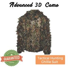 Advanced 3D Camo Tactical Hunting Ghillie Suit - 100% Satisfaction Guaranteed!