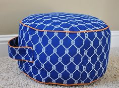 DIY adorable floor cushion with piping!