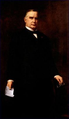 Official White House Portrait of William McKinley - 25th President of the United States