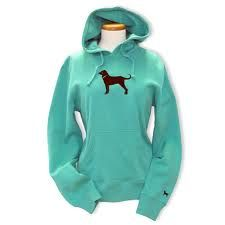 The Black Dog Sweatshirt, in dark teal.