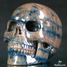 ✿ Dumortierite Carved Crystal Skull ✿