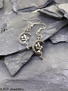 Tibetan Silver Fairies on Sterling Silver Hooks by ARPJewellery on Etsy