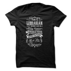 Librarian T-Shirts, Hoodies. SHOPPING NOW ==► https://www.sunfrog.com/No-Category/Librarian-22523904-Guys.html?id=41382