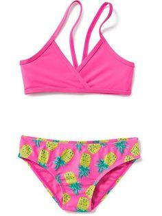2-Piece Triangle Bikini Set for Girls