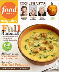 Some yummy looking recipes in the October issue!
