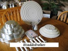 Wilton 5 Tiered Petal Cake Pan Lot 45 Pieces