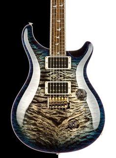 2015 PRS Custom 24 Anniversary MSL Wood Library Run, Charcoal Blue Burst, Downgraded Private Stock Top Guitar Tips, Guitar Lessons, Prs Guitar, Guitar Bag, Acoustic Guitar, Paul Reed Smith, Guitar Collection, Guitar Building, Beautiful Guitars