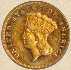 1877 Three Dollar Gold obverse, super-low mintage!