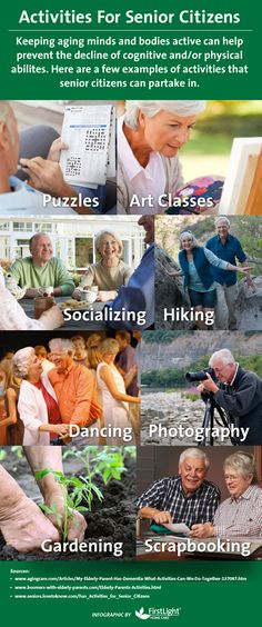 Looking for activities that you and your aging parent can do together? Keeping aging minds and bodies active can help prevent the decline of cognitive and/or physical abilities.