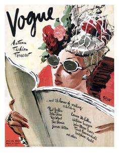 Vogue, July 1941. Illustration: René Bouét-Willaumez.