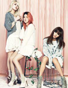 Spica's Jiwon, Boa, & Lee Hyori // Ceci Korea // September 2013