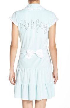 """Blue by Betsey Johnson """"Wifey"""" Terry robe."""