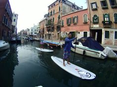 Surfing In Venice: What a way to see the city of Venice!! We spent 3 hours paddle-boarding through this amazing city built on water.