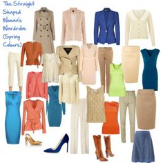 The Straight-shaped Woman's Wardrobe (Spring Colours)
