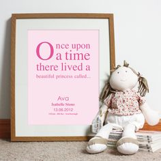 Bespoke #gift ideas: personalised #poster design for girls