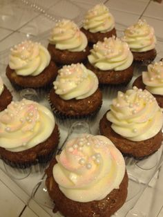 Carrot cupcakes with cream cheese frosting - Diana Benton