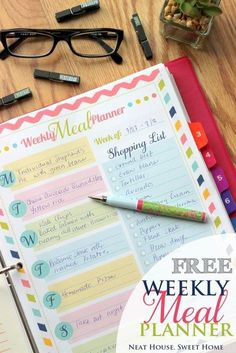 Weekly Meal Planner - Free Printable