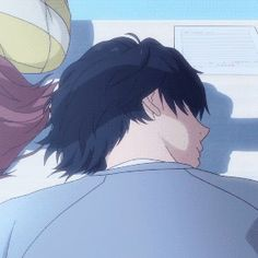 Imagen de couple, gif, and ao haru ride Hot Anime Couples, Anime Couples Drawings, Anime Love Couple, Anime Guys, Manga Anime, Anime Art, Ao Haru Ride Kou, Avatar, Blue Springs Ride