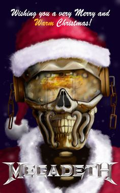 Megadeth Christmas Card by on DeviantArt Christmas Humor, Christmas Cards, Xmas, Megadeth Albums, Vic Rattlehead, Rock Band Logos, Happy Birthday Images, Jingle All The Way, Thrash Metal