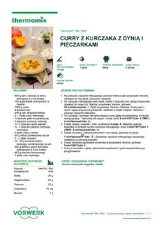 Curry z kurczaka z dyni i pieczarkami Healthy Recipes, Healthy Food, Make It Simple, Food And Drink, Drinks, Cooking, How To Make, Life, Per Diem
