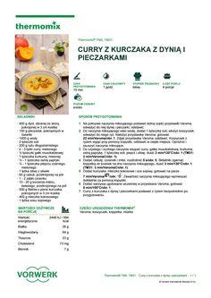 Curry z kurczaka z dyni i pieczarkami Make It Simple, Healthy Recipes, Healthy Food, Food And Drink, Drinks, Cooking, How To Make, Life, Per Diem