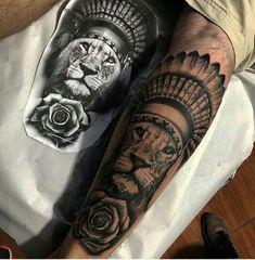 Lion Chest Tattoo, Lion Forearm Tattoos, Lion Head Tattoos, Wrist Tattoos For Guys, Leg Tattoos, Small Tattoos, Leg Sleeve Tattoo, Leg Tattoo Men, Full Sleeve Tattoos