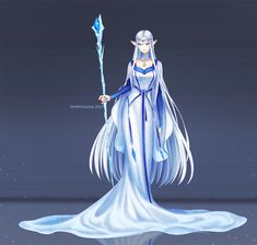 Character design commission from FloofyTsuki, her OC Tsuki, elf version. Human version: , Neko version: -------- Art by me, using Paintool SAI, Photoshop Cs3 and Wacom Intous 4 Large.