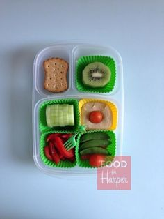 Healthy lunch box ideas for toddlers | packed in @EasyLunchboxes containers