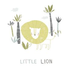Little Lion - A4 print. £12.00, via Etsy.