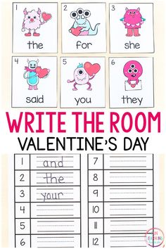 Editable Valentine's Day Sight Word Write the Room
