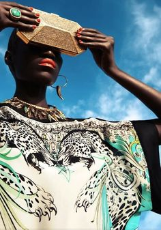 Senegalese model Kinee Diouf becomes 1st Black Model to Cover Vogue Nederland in its July 2013 Issue.