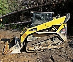 in the woods. Seems a skid steer only looks right when it is caked in mud! Training Kit, Safety Training, Training Classes, Train The Trainer, Backhoe Loader, Skid Steer Loader, Heavy Machinery, The Hard Way, Cool Cats