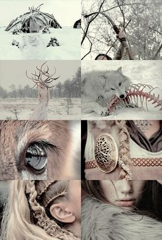 Skaði: a wolf and a girl are one and the same; when lonely one cries to the moon, the other to the sky