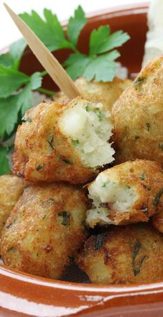 Air fryer cod croquettes recipe. Learn how to cook yummy and crispy fish croquettes in an air fryer. #airfryer #dinner #fish #cod #croquettes #fish #seafood #crispy Frozen Lobster, Shrimp And Lobster, Oven Baked Cod, Breaded Cod, Grilled Cod, Croquettes Recipe, Instant Mashed Potatoes, Turnover Recipes, Chicken Thigh Recipes