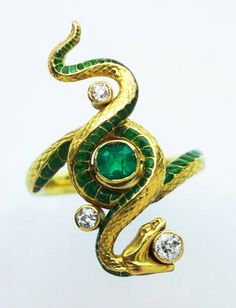 Art Nouveau Snake Ring, designed by Paul  Briancon, 1900