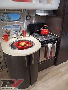 Airstream International 23 Trailer Kitchen